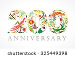 200 years old luxurious... | Shutterstock .eps vector #325449398