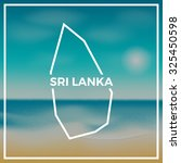 sri lanka map against the... | Shutterstock .eps vector #325450598