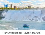 Panorama Of Niagara Falls In...