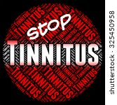 stop tinnitus showing prohibit... | Shutterstock . vector #325450958