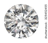 realistic diamond in top view... | Shutterstock . vector #325452455
