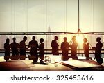 back lit business people... | Shutterstock . vector #325453616