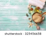 spa or wellness setting. sea... | Shutterstock . vector #325456658