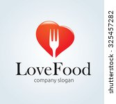 love food fork logo vector logo ... | Shutterstock .eps vector #325457282