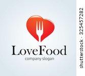 love food logo template | Shutterstock .eps vector #325457282