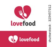 love food food logo vector logo ... | Shutterstock .eps vector #325457312