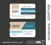 business card template vector... | Shutterstock .eps vector #325457438