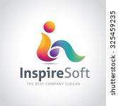 inspire soft  i letter logo ... | Shutterstock .eps vector #325459235