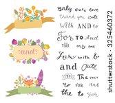 hand lettered ampersands ... | Shutterstock .eps vector #325460372
