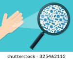 blue germs on a hand being...   Shutterstock .eps vector #325462112