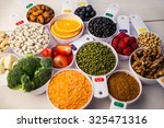 portion cups of healthy... | Shutterstock . vector #325471316