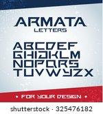 'armata Letters' Modern Font....