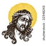 jesus christ    portrait | Shutterstock .eps vector #32548243