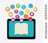 online education theme design ... | Shutterstock .eps vector #325491542