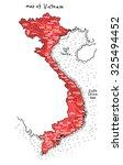map of vietnam vector | Shutterstock .eps vector #325494452