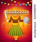 creative ravana statue on... | Shutterstock .eps vector #325498595
