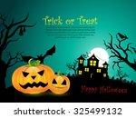 halloween pumpkin vector... | Shutterstock .eps vector #325499132