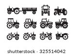 vector black tractor icon on... | Shutterstock .eps vector #325514042