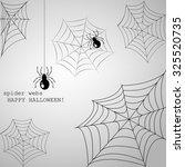spider webs  | Shutterstock .eps vector #325520735