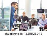 business man making a... | Shutterstock . vector #325528046