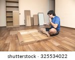 young man puzzled about... | Shutterstock . vector #325534022