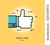 thumbs up  flat design thin... | Shutterstock .eps vector #325535972