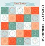 vector christmas advent...   Shutterstock .eps vector #325543535