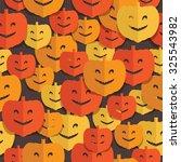 seamless halloween pattern with ... | Shutterstock .eps vector #325543982