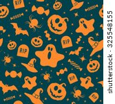 halloween retro pattern  | Shutterstock .eps vector #325548155