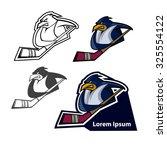 Penguin Mascot  Sport Team Log...