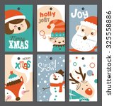 set of christmas gift tags | Shutterstock .eps vector #325558886