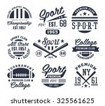 set of monochrome sport emblems ... | Shutterstock .eps vector #325561625