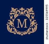 elegant monogram design... | Shutterstock .eps vector #325569995