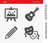 art icons. professional  pixel... | Shutterstock .eps vector #325570232