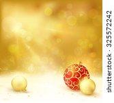 golden christmas background... | Shutterstock .eps vector #325572242