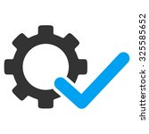 valid options vector icon.... | Shutterstock .eps vector #325585652