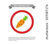 carrot icon | Shutterstock .eps vector #325587176