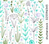 pattern of flowers drawn in... | Shutterstock . vector #325596545