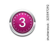 3 number vector pink web icon | Shutterstock .eps vector #325597292