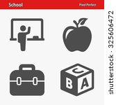 school icons. professional ... | Shutterstock .eps vector #325606472