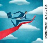 big jump. illustration of a... | Shutterstock . vector #325612115