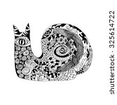 zentangle stylized snail.... | Shutterstock . vector #325614722