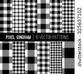 black and white gingham... | Shutterstock .eps vector #325637102