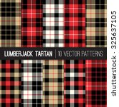 lumberjack tartan and buffalo... | Shutterstock .eps vector #325637105