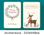 christmas card collection set... | Shutterstock .eps vector #325644866