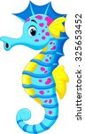 cute seahorse cartoon | Shutterstock .eps vector #325653452