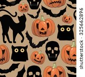halloween background  with... | Shutterstock .eps vector #325662896