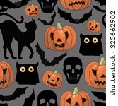 halloween background  with... | Shutterstock .eps vector #325662902