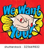 pop art   we want you  sign....