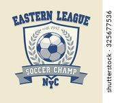 soccer football logo  sport cup ... | Shutterstock . vector #325677536